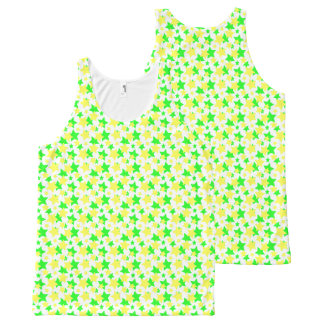 STAR POWER GREEN YELLOW PARADE!.png All-Over Print Tank Top