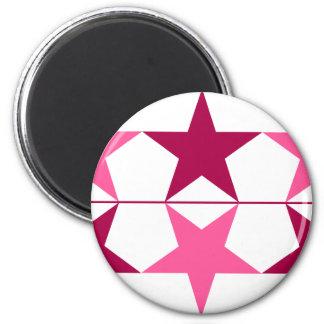 Star Power (Pink) 6 Cm Round Magnet
