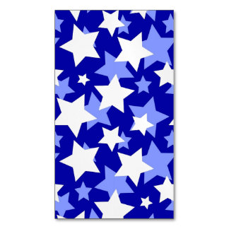 STAR POWER third movement! (blue and white) v.2 ~. Magnetic Business Cards