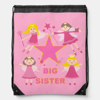 Star Princesses Big Sister Drawstring Bag