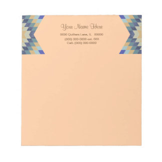 Star Quilt Pattern Notepad
