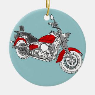 Star Red Bike Ceramic Ornament