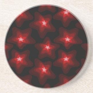 Star red black 4 coaster
