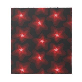 Star red black 4 notepad
