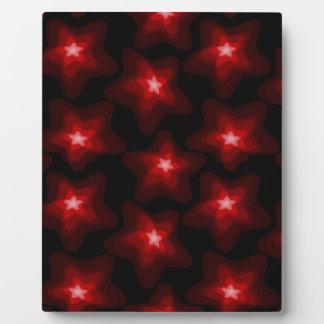 Star red black 4 plaque