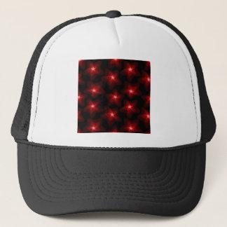 Star red black 4 trucker hat