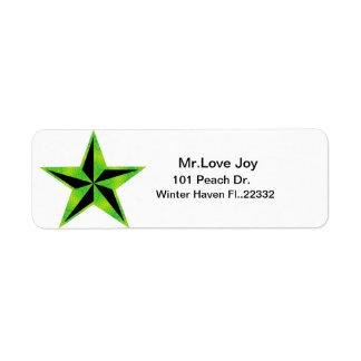 Star Return Address Lables Return Address Label
