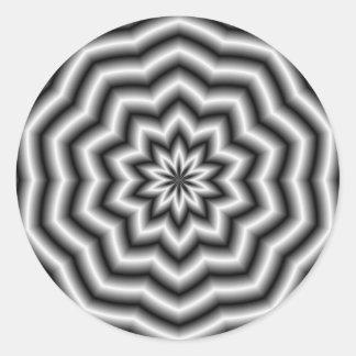 Star Ripples Round Sticker
