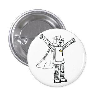 Star Robot Superhero Button
