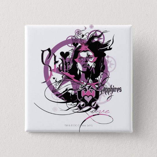 Star Sapphire Graphic 6 15 Cm Square Badge