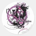 Star Sapphire Graphic 6 Round Sticker