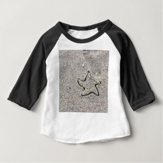 Star Shape Created in the Sand Baby T-Shirt