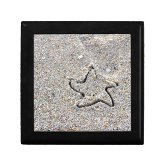 Star Shape Created in the Sand Gift Box