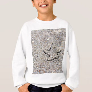 Star Shape Created in the Sand Sweatshirt