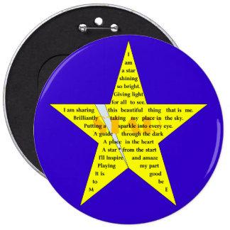 Star Shape Poem Badge
