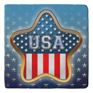 Star Shaped American Flag Trivets