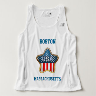 Star Shaped American Flag With Your City And State Singlet