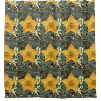 Star shaped flower shower curtian shower curtain