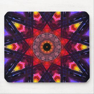 Star-Shaped Mandala Art Mouse Pad