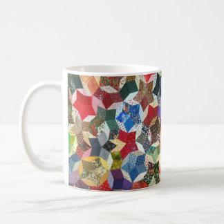 Star shaped quilt basic white mug