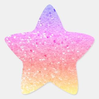 Star Shaped: Rainbow Glitter Stickers