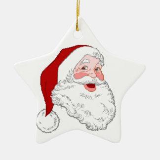 star shaped santa christmas ornament
