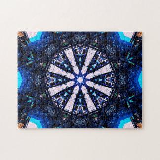 Star Shapes Mandala Jigsaw Puzzle
