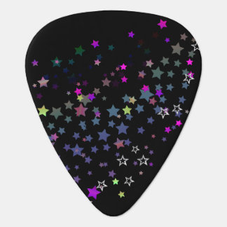 Star Shine Party Stars, black Plectrum