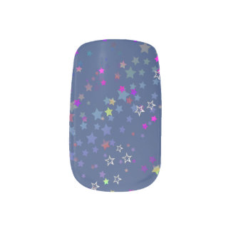Star Shine Party Stars, Midnight Blue Minx Nail Art
