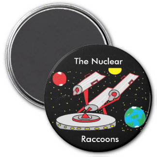 star ship, The Nuclear, Raccoons 7.5 Cm Round Magnet