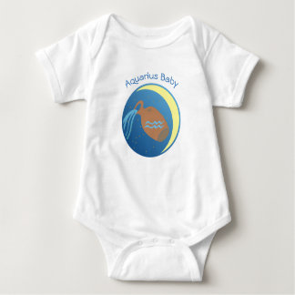 Star Sign Baby Vest Aquarius Baby Bodysuit