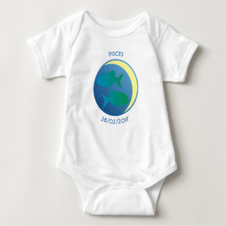 Star Sign Baby Vest Pisces Baby Bodysuit