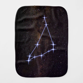 Star Sign Capricorn Burp Cloth