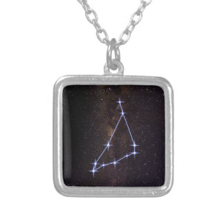 Star Sign Capricorn Silver Plated Necklace
