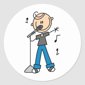 Star Singer On The Microphone Sticker