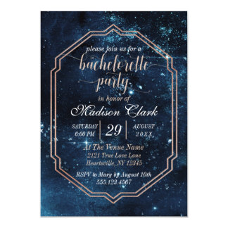 Star Sky Celestial Bachelorette Party Invitation