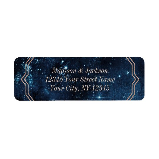 Star Sky Celestial Galaxy Wedding Return Address Return Address Label
