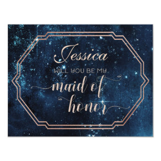 Star Sky Celestial Will You Be My Maid of Honor Card