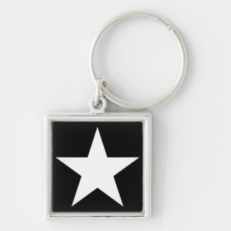 Star / Small (3.5 cm) Premium Square Key Ring