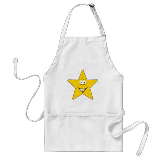 Star Smiley Face Standard Apron