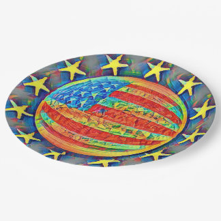 Star Spangled Banner 9 Inch Paper Plate