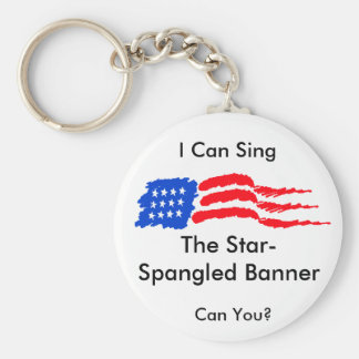 Star-Spangled Banner Basic Round Button Key Ring