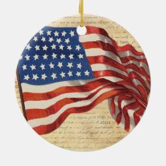 Star Spangled Banner Ceramic Ornament