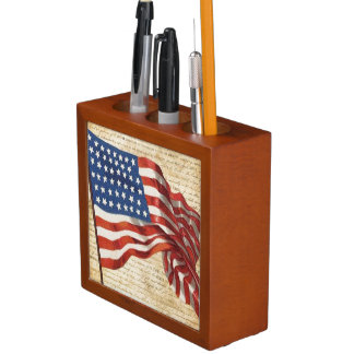 Star Spangled Banner Desk Organiser