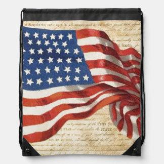 Star Spangled Banner Drawstring Bag