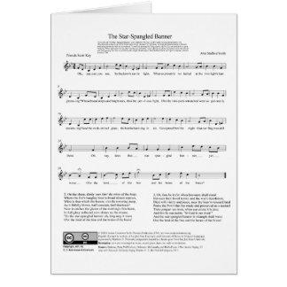 Star-Spangled Banner National Anthem Music Sheet Greeting Card