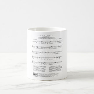 Star-Spangled Banner National Anthem Music Sheet Coffee Mugs