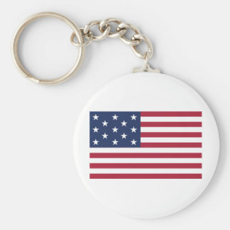 Star Spangled Banner With 13 Stars Basic Round Button Key Ring