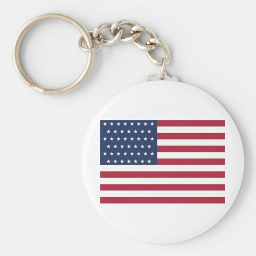 Star Spangled Banner With 45 Stars Keychain
