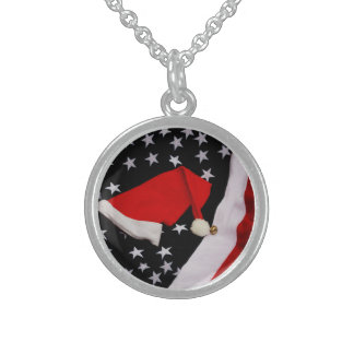 Star-Spangled Christmas Sterling Silver Necklaces